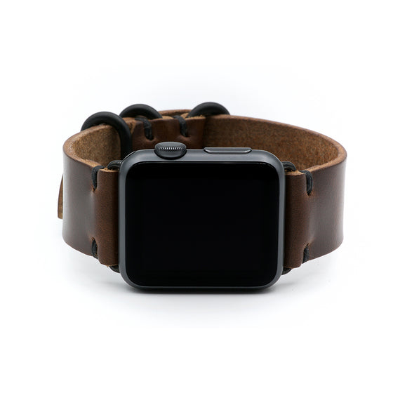 E3 Apple Watch Strap in Brown Chromexcel Leather