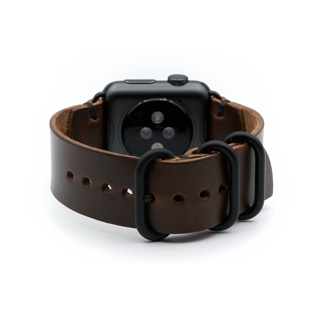 E3 Apple Watch Strap in Brown Chromexcel Leather - Cult of Mac Watch Store