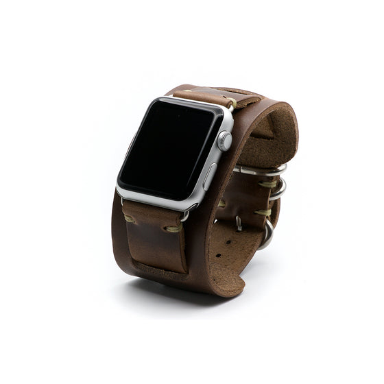 E3 Apple Watch Cuff in Natural Chromexcel Leather