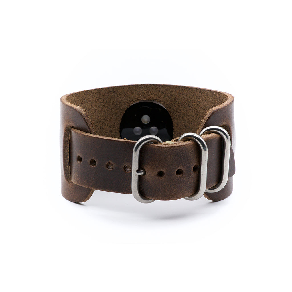 E3 Apple Watch Cuff in Natural Chromexcel Leather - Cult of Mac Watch Store