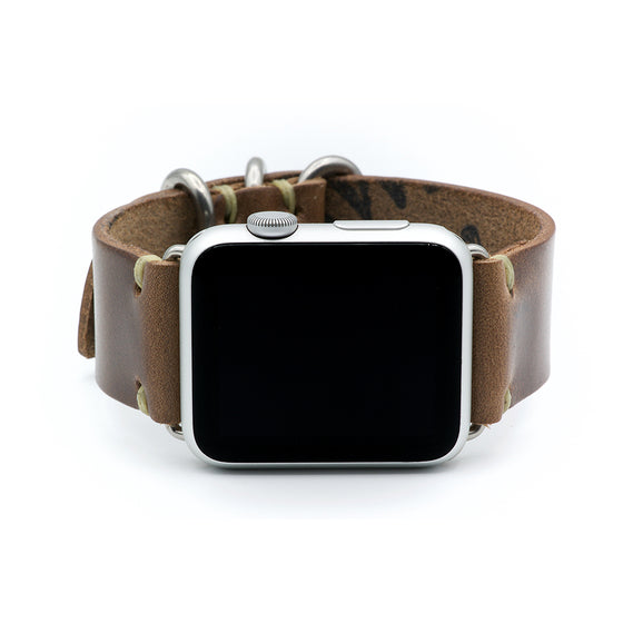 E3 Apple Watch Strap in Natural Chromexcel Leather
