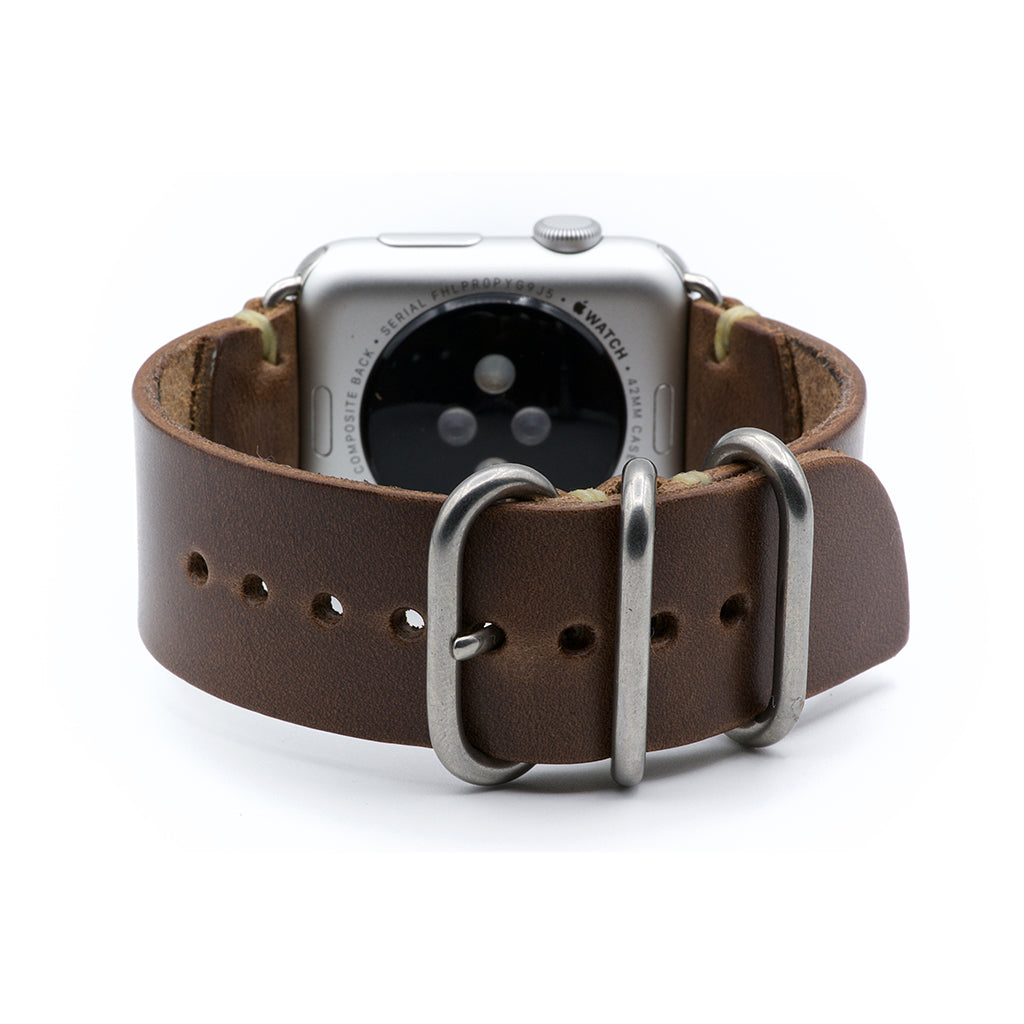 E3 Apple Watch Strap in Natural Chromexcel Leather - Cult of Mac Watch Store