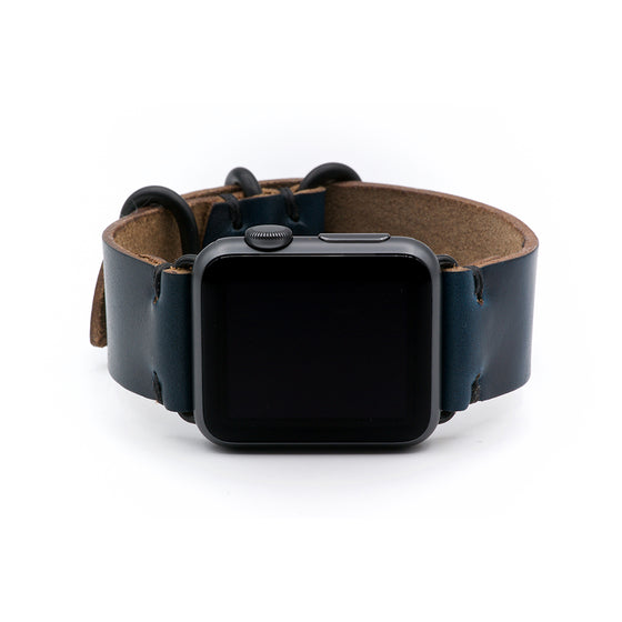 E3 Apple Watch Strap in Navy Blue Chromexcel Leather