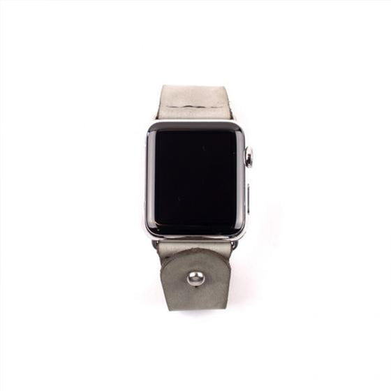 Form Function Form Latigo Alpine Gray Suede Button-Stud Apple Watch Band 38 mm