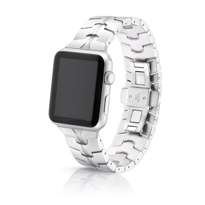 Juuk Vitero Silver Apple Watch Band - Cult of Mac Watch Store
