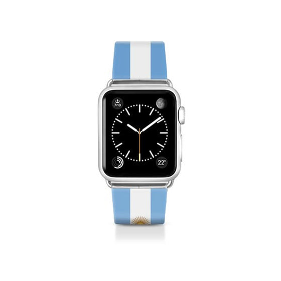 World Cup: Casetify Saffiano Leather Apple Watch Band Argentina Flag - Cult of Mac Watch Store