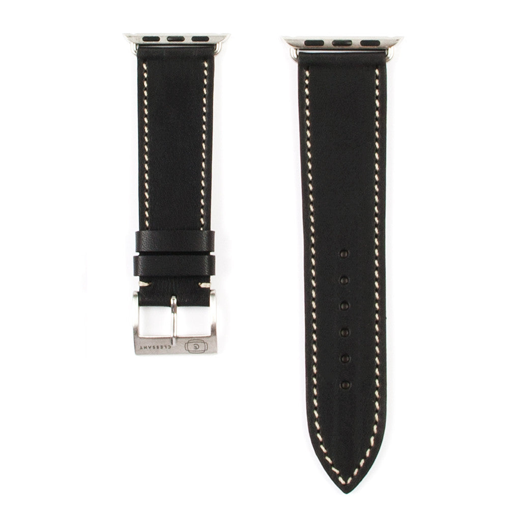 Clessant Black Barenia Apple Watch Strap - Cult of Mac Watch Store