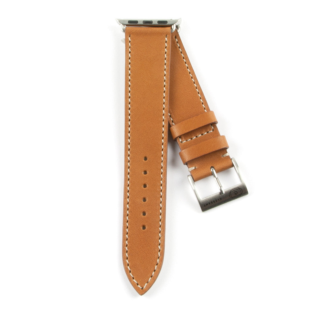 Clessant Gold Barenia Apple Watch Strap - Cult of Mac Watch Store