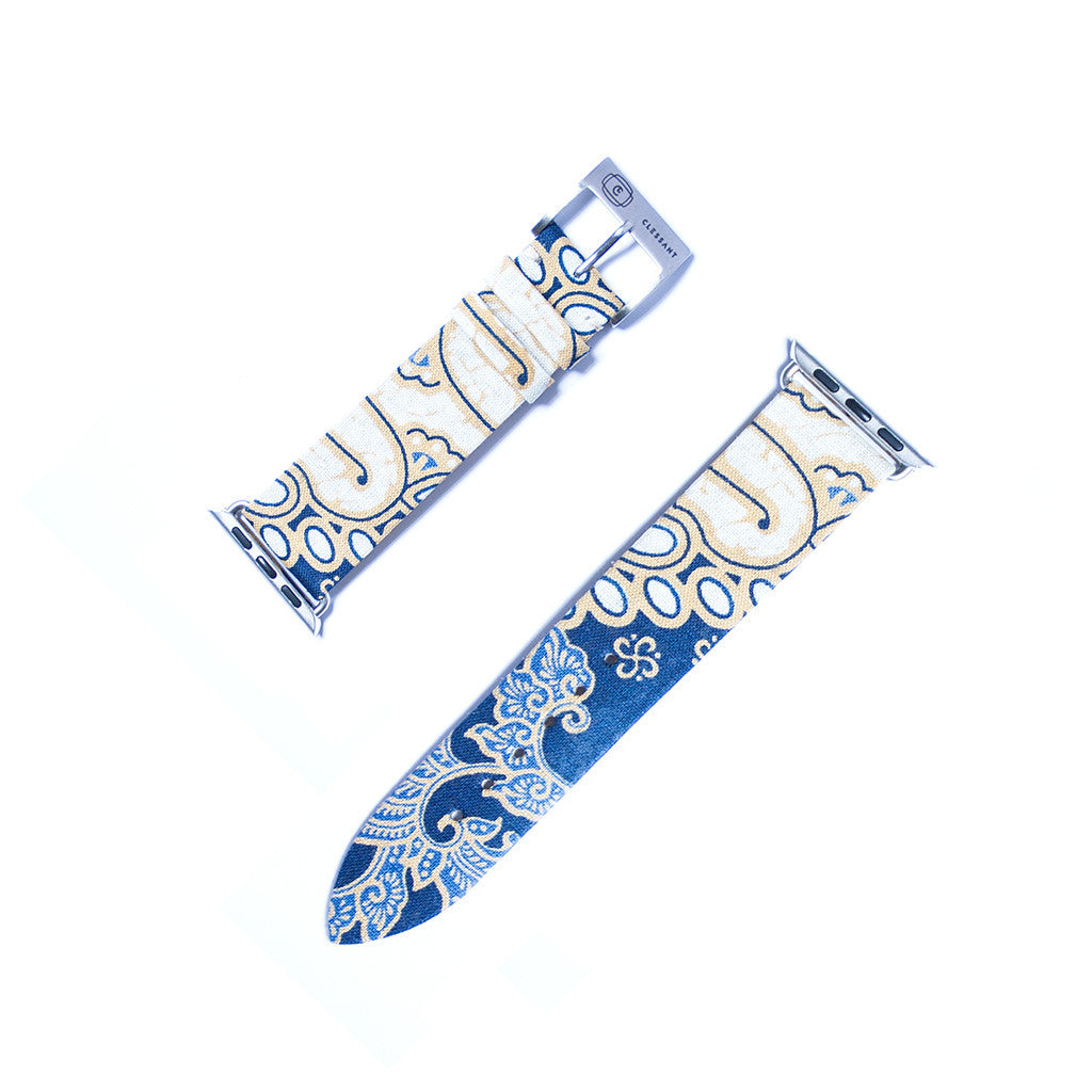 Clessant Blue Batik Apple Watch Strap - Cult of Mac Watch Store
