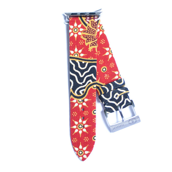 Clessant Red Batik Apple Watch Strap - Cult of Mac Watch Store