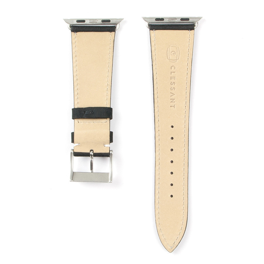 Clessant Black Nubuck Apple Watch Strap - Cult of Mac Watch Store