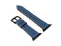 OleksynPrannyk Italian Leather Apple Watch Band - Blue