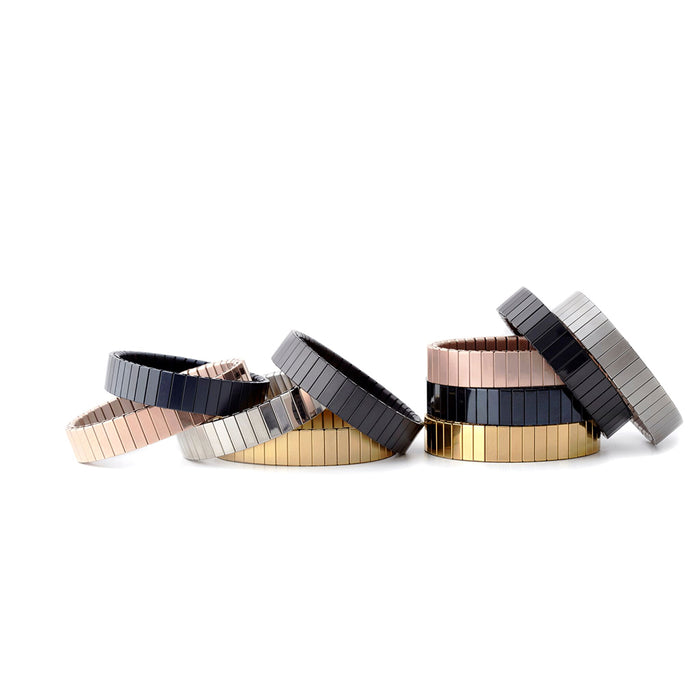 Rilee & Lo Satin Rose Gold Stacking Bracelet - Cult of Mac Watch Store