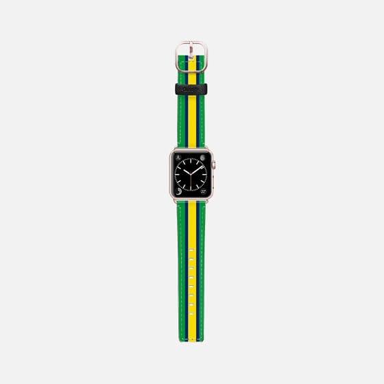 World Cup: Casetify Saffiano Leather Apple Watch Band Brazil - Cult of Mac Watch Store