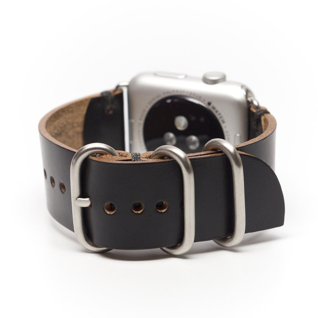 E3 Apple Watch Strap in Brown Shell Cordovan Leather - Cult of Mac Watch Store