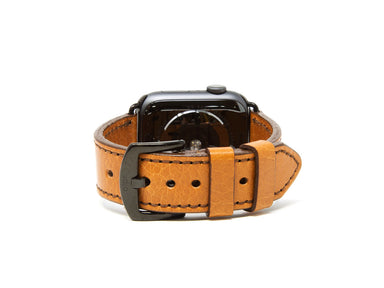OleksynPrannyk Italian Leather Apple Watch Band - Brown