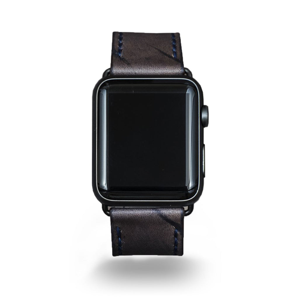 Strapley Distressed-Leather Apple Watch Band in Rockwood - Cult of Mac Watch Store