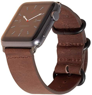 Carterjett Leather Apple Watch Band in Vintage Brown