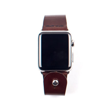 Form Function Form Dark Brown Button-Stud Apple Watch Band 42/ 44 mm