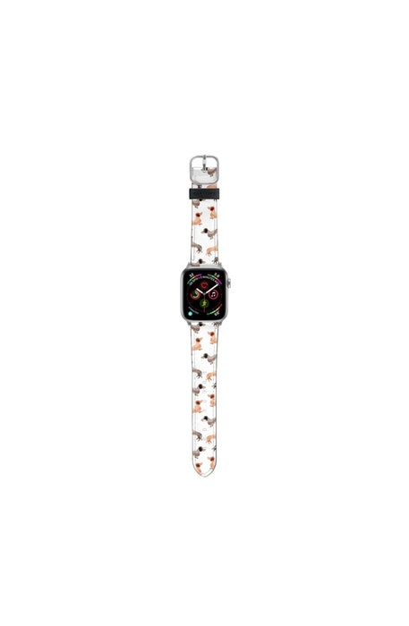 Casetify Saffiano Leather Apple Watch Band - Wonder Forest Darling Dachshunds