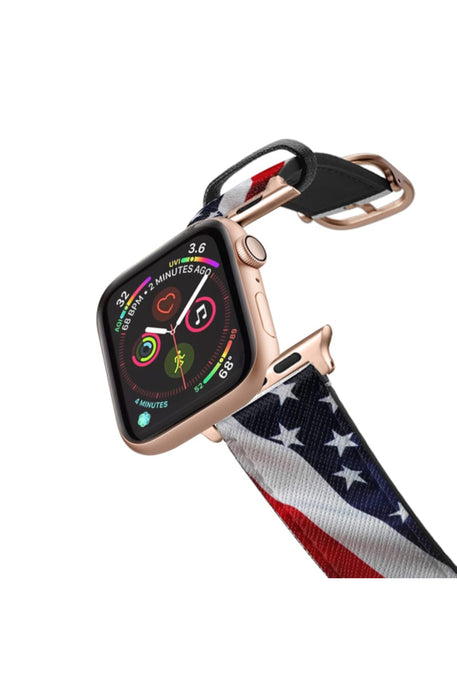 Casetify Saffiano Leather Apple Watch Band - Stars and Stripes Flag #1