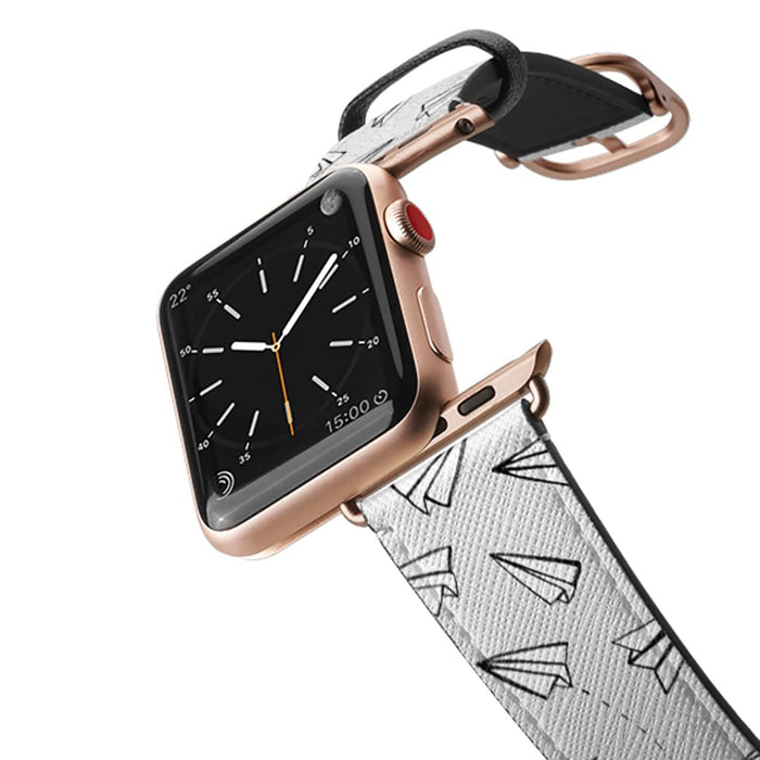 Casetify Saffiano Leather Apple Watch Band - Paper Planes