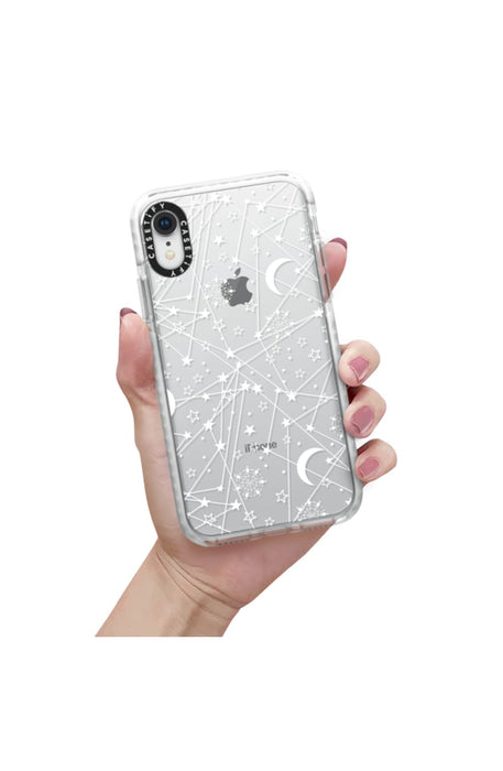 Casetify Military Grade iPhone Case for iPhone - Sun Moon Stars White Galaxy