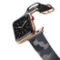 Casetify Saffiano Leather Apple Watch Band - Camo Blue Grey