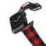Casetify Saffiano Leather Apple Watch Band - Red and Black Buffalo Check