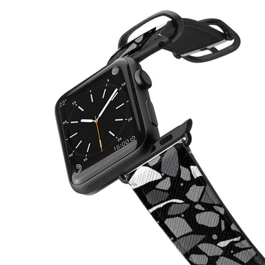 Casetify Saffiano Leather Apple Watch Band - Terrazzo Black