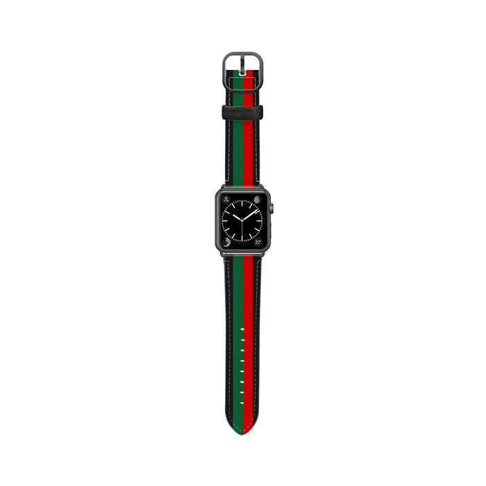 Casetify Saffiano Leather Apple Watch Band - Chic Stripe 1