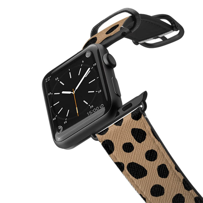 Casetify Saffiano Leather Apple Watch Band - Cheetah Dots