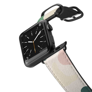 Casetify Saffiano Leather Apple Watch Band - Neutral Abstract