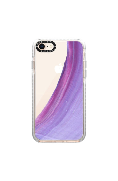Casetify Military Grade Protective iPhone Case - Purple Swish