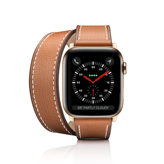 Casetify 2-in-1 Italian Leather Apple Watch Band Kit - Brown