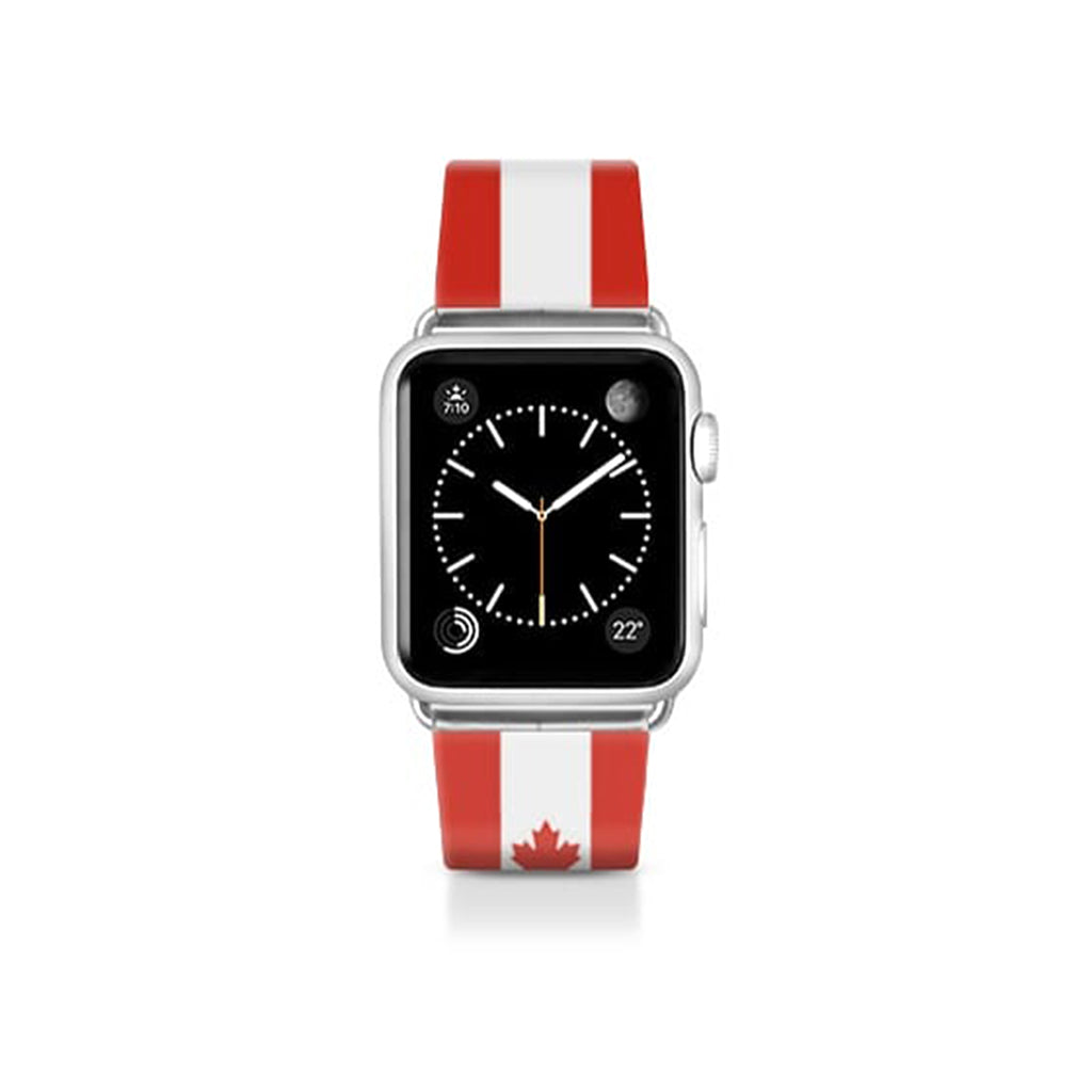 World Cup: Casetify Saffiano Leather Apple Watch Band Canada - Cult of Mac Watch Store