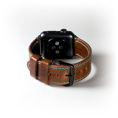 Olpr. leather goods co. Chestnut Apple Watch Band
