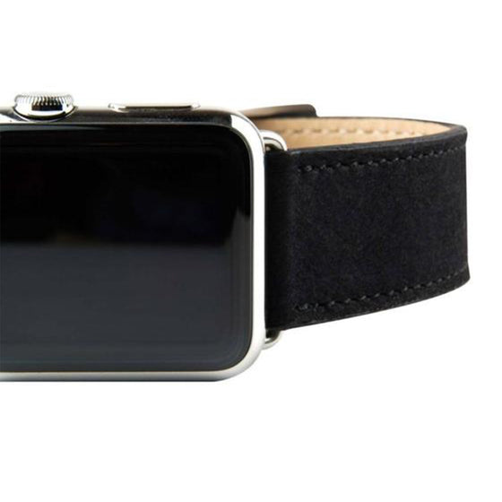 Clessant Nubuck Black Apple Watch Band