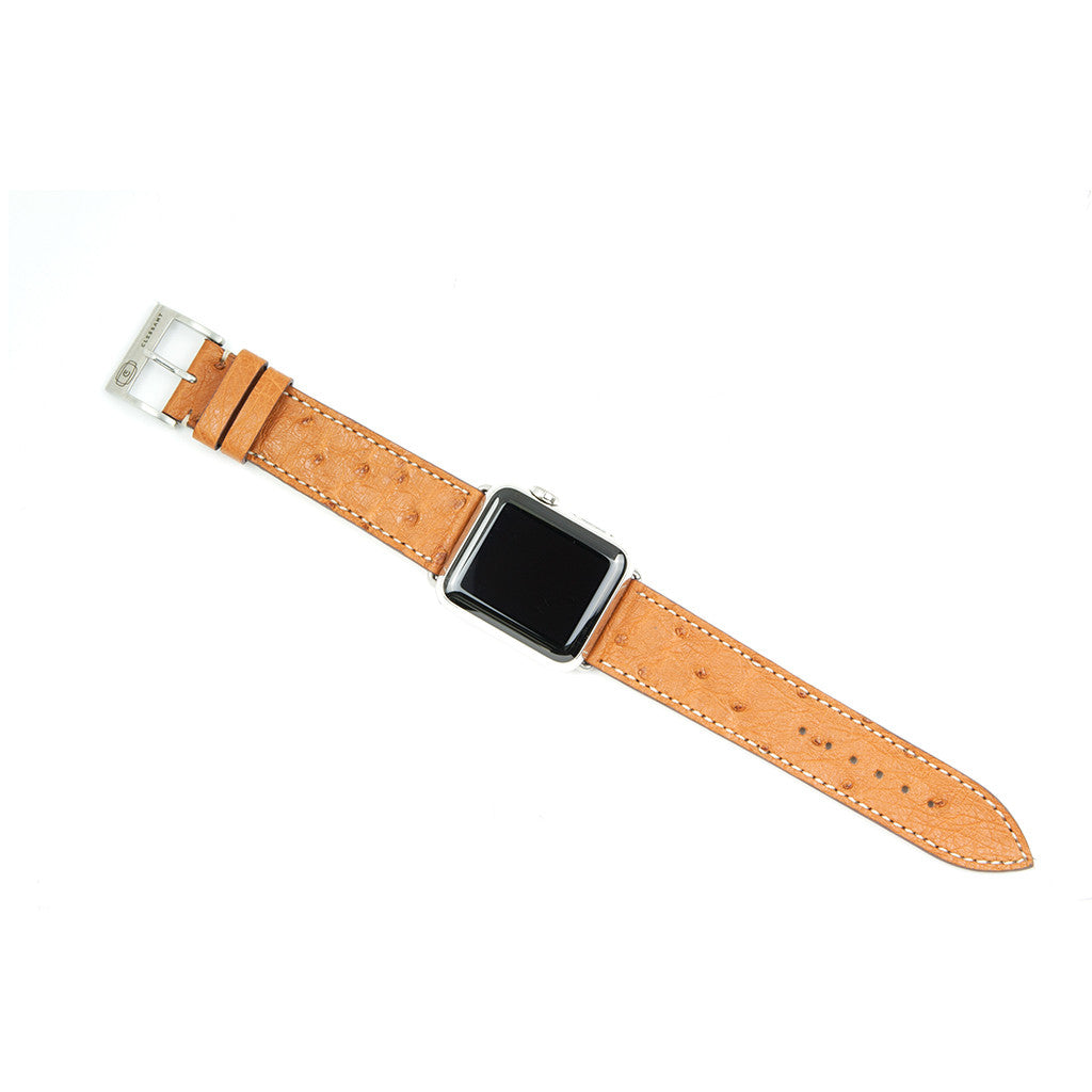 Clessant Gold Ostrich Apple Watch Band