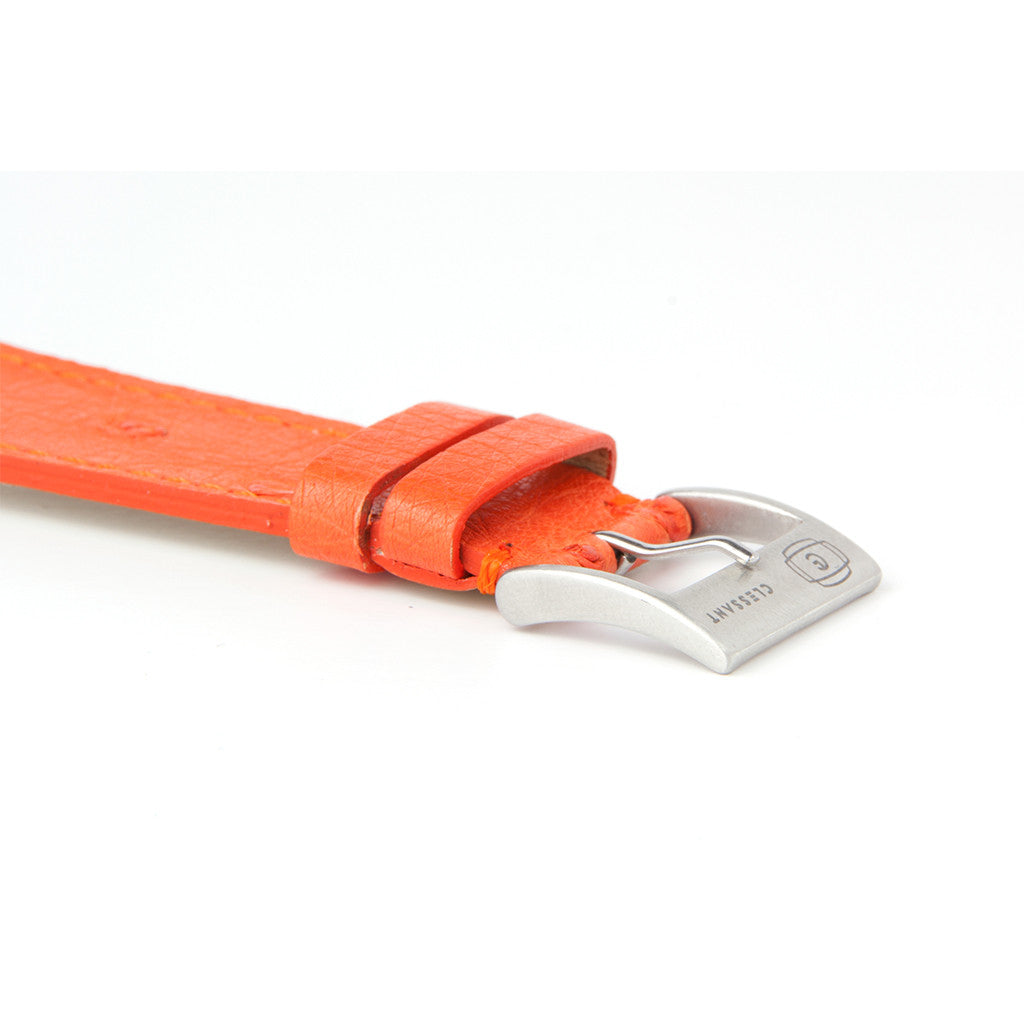Clessant Orange Ostrich Apple Watch Band - Cult of Mac Watch Store