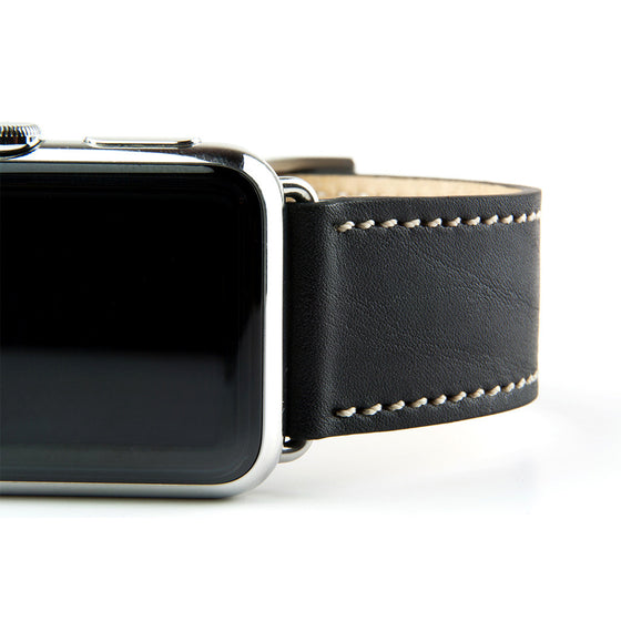 Clessant Black Barenia Apple Watch Band - Cult of Mac Watch Store