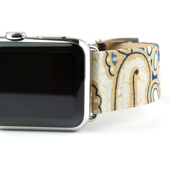 Clessant Batik Apple Watch Band in Blue - Cult of Mac Watch Store