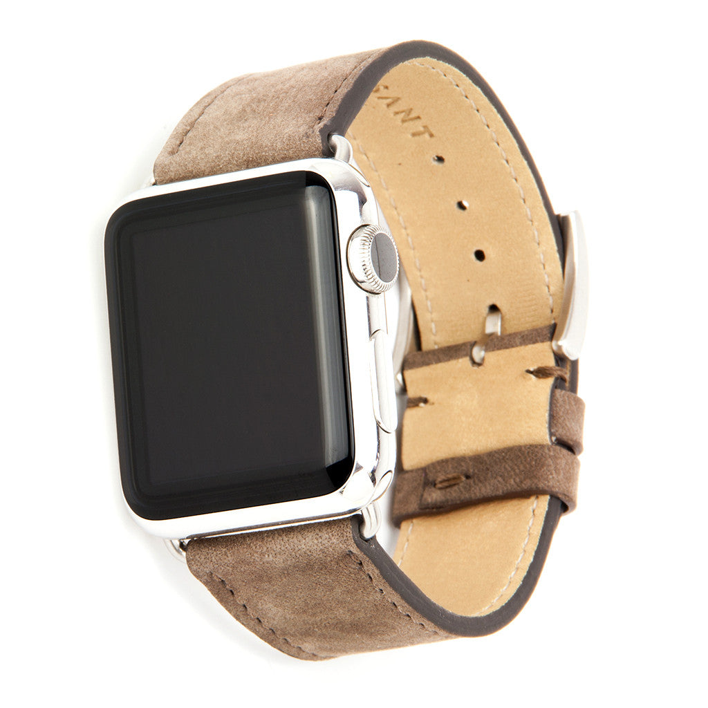Clessant Nubuck Taupe Apple Watch Band