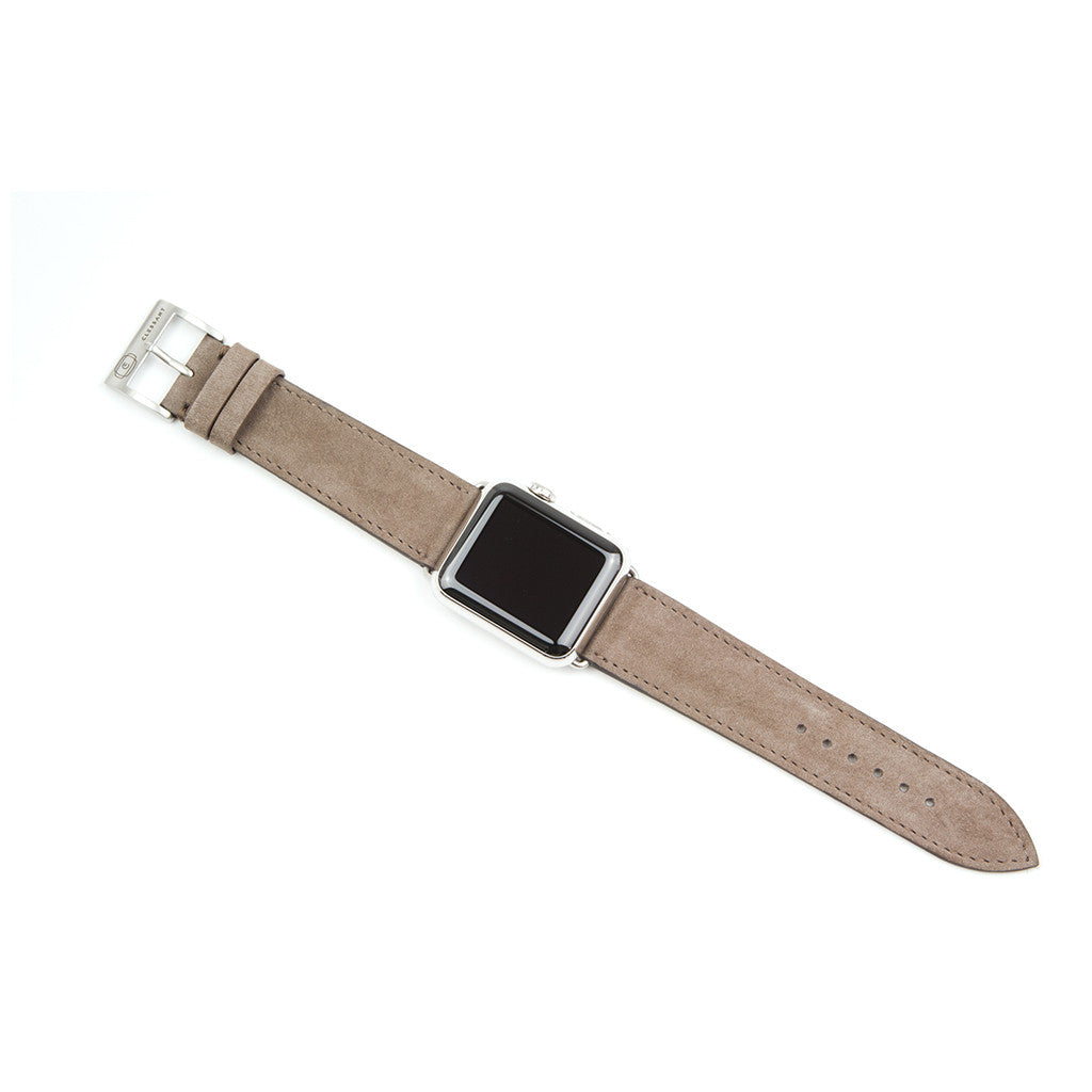 Clessant Nubuck Taupe Apple Watch Band - Cult of Mac Watch Store