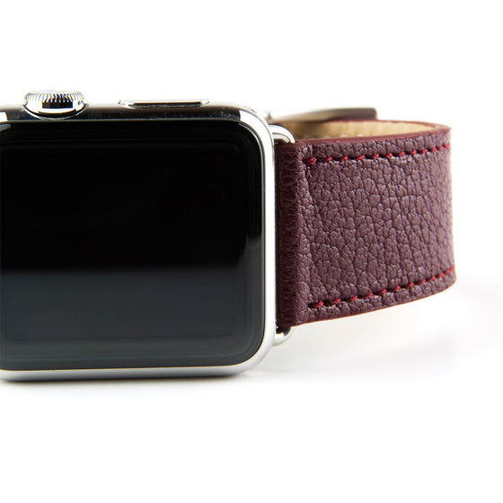 Clessant Burgundy Madras Apple Watch Band - Cult of Mac Watch Store