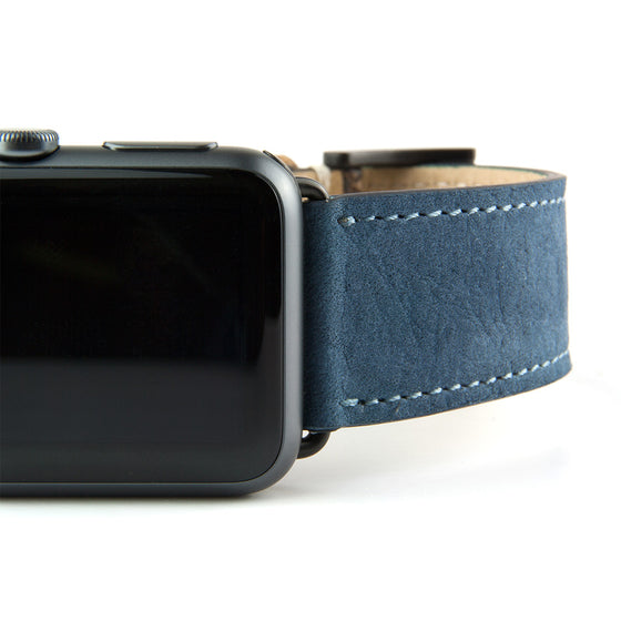 Clessant Nubuck Denim Apple Watch Band - Cult of Mac Watch Store