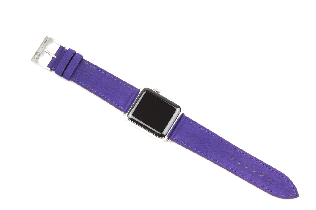 Clessant Purple Nubuck Apple Watch Band - Cult of Mac Watch Store