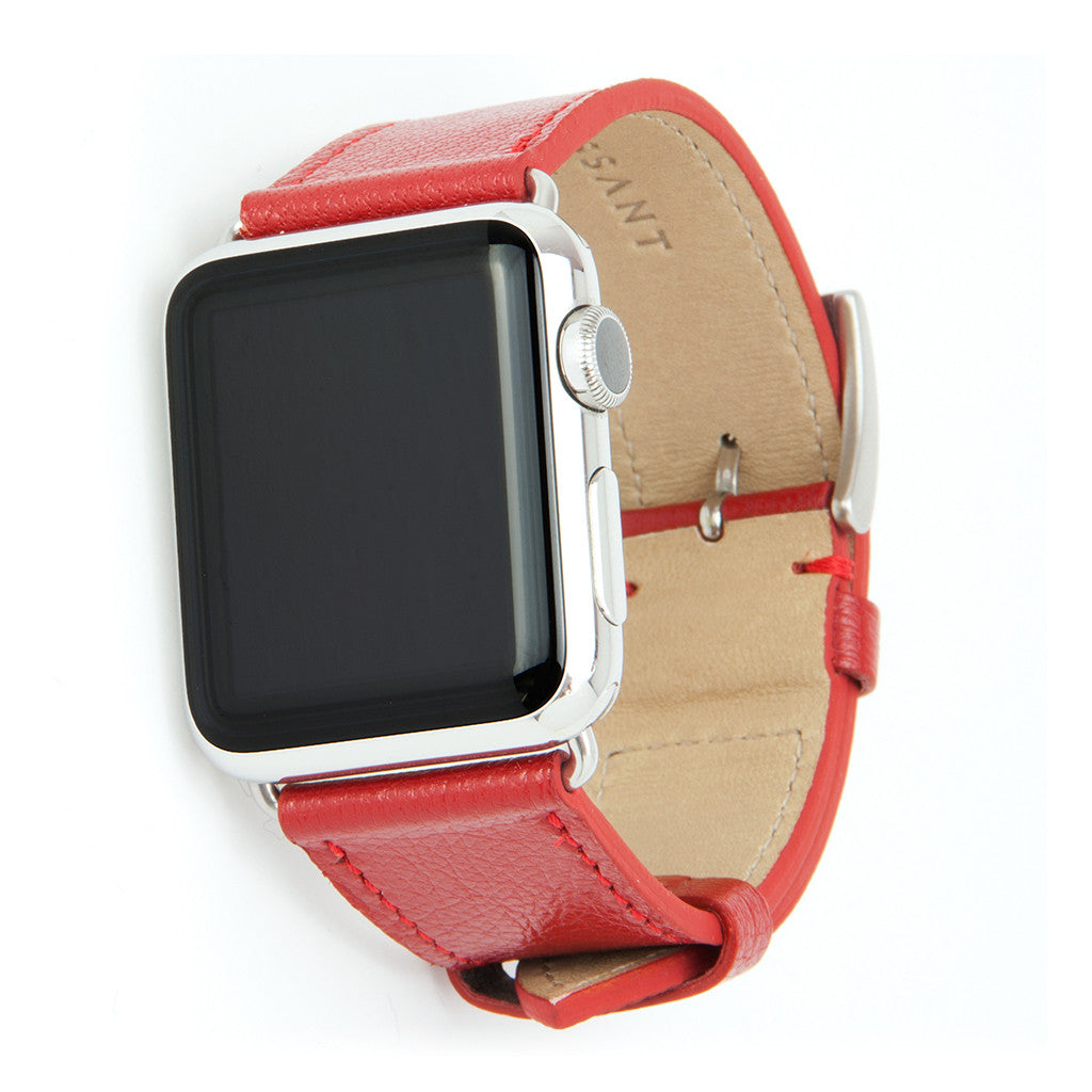Clessant Red Madras Apple Watch Band
