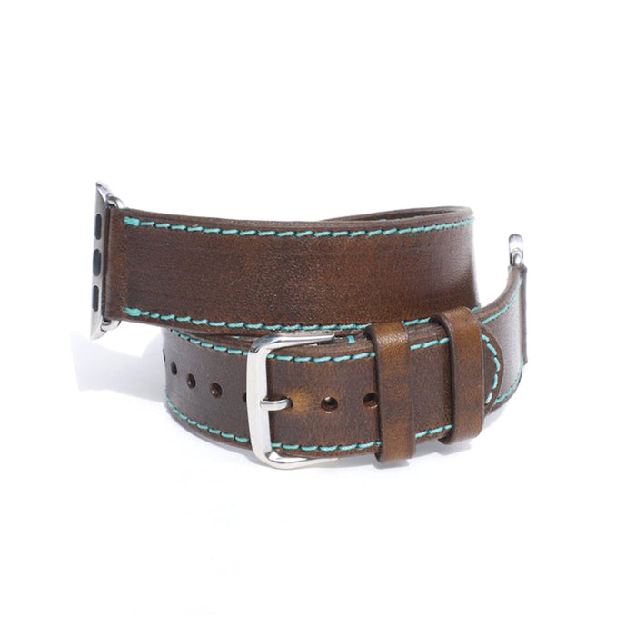 OleksynPrannyk Horween Chestnut Double Tour Apple Watch Band