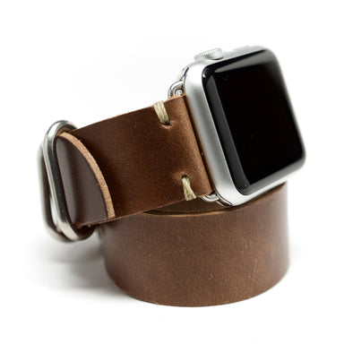 E3 Double Wrap Apple Watch Band in Natural Chromexcel Leather - Cult of Mac Watch Store